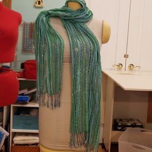 Multi colored lightweight scarf